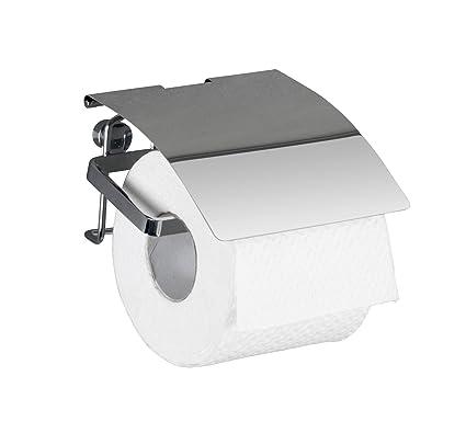 Wenko Dispensador de Papel higiénico 22789100, Premium, Acero Inoxidable, 12,5 x