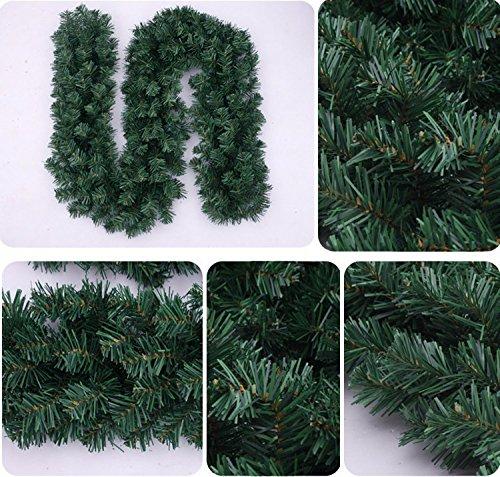 GREATLOVE 106 ''Artificial PVC Christmas Decoration Rattan Christmas Decorations