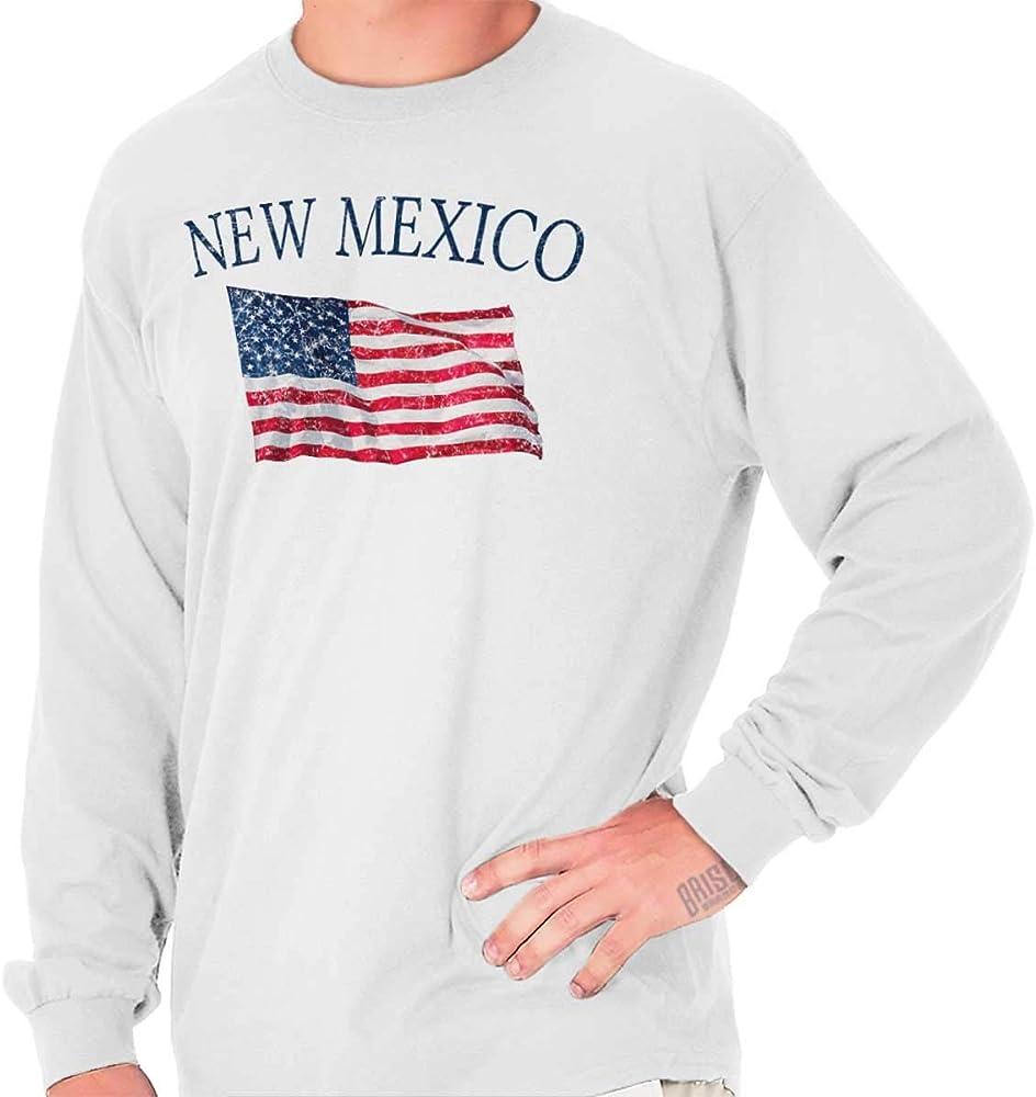 Camiseta de Manga Larga con diseño de la Bandera de Estados Unidos - Blanco - Large: Amazon.es: Ropa y accesorios