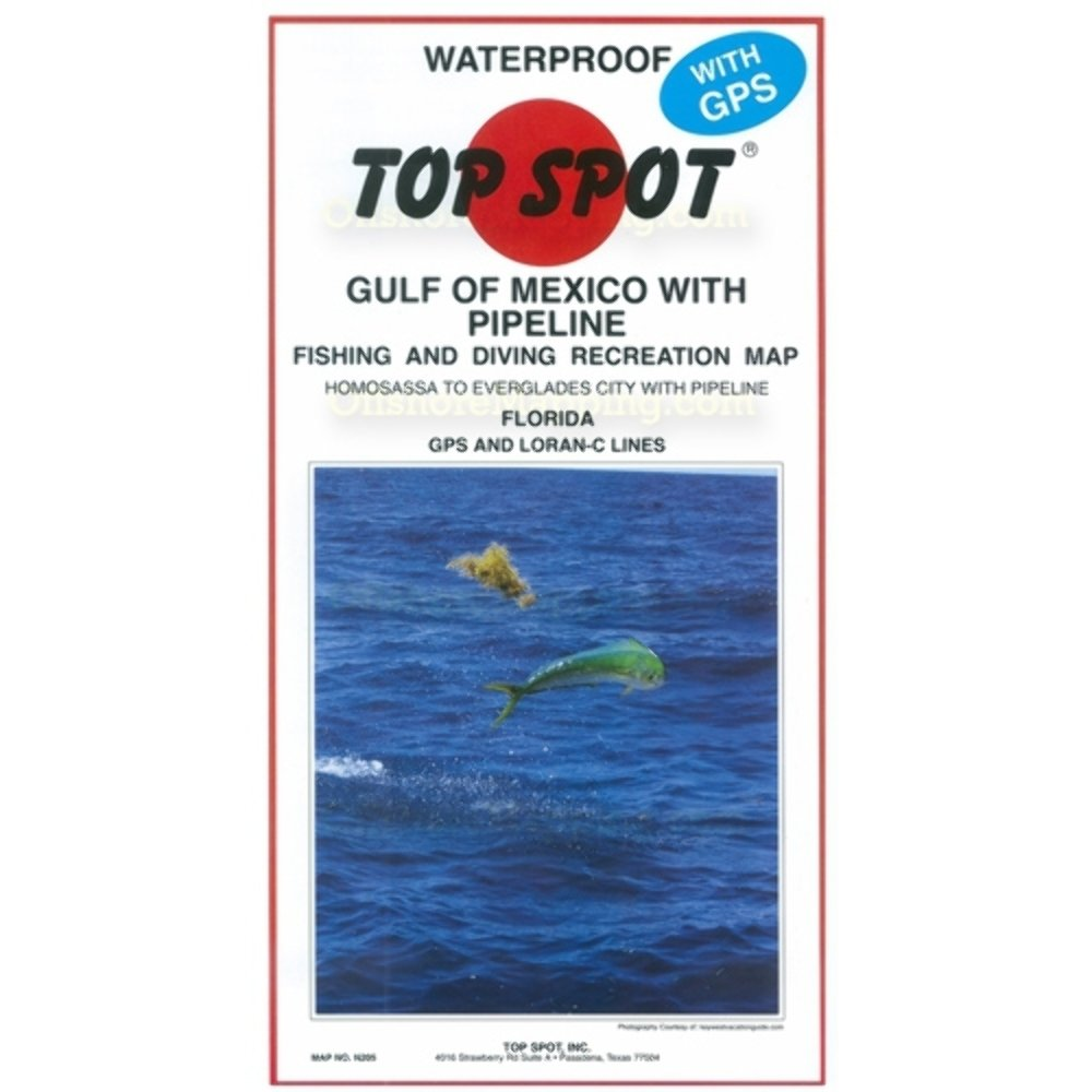 Amazoncom Top Spot Fishing Map From West Coast Florida Offshore - Map of florida west coast