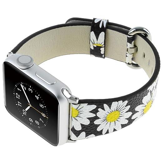 Correa deportiva para Apple Watch de 42 mm, correa de piel ...