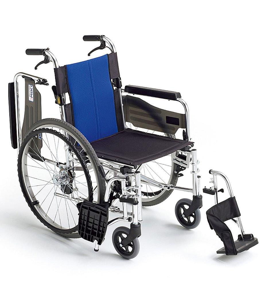 ミキ BAL-3 多機能型 自走型車いす ブルー 40 B00KWYH1YM
