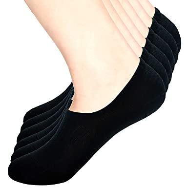 3//6Pairs Women//Men Invisible Low Cut Cotton Boat Non-Slip Loafer No Show Socks