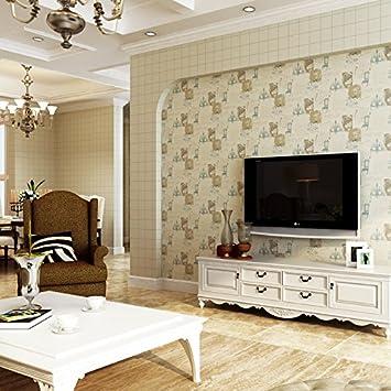 Lo stile inglese carta comune a griglia quadrata wallpaper camera da ...