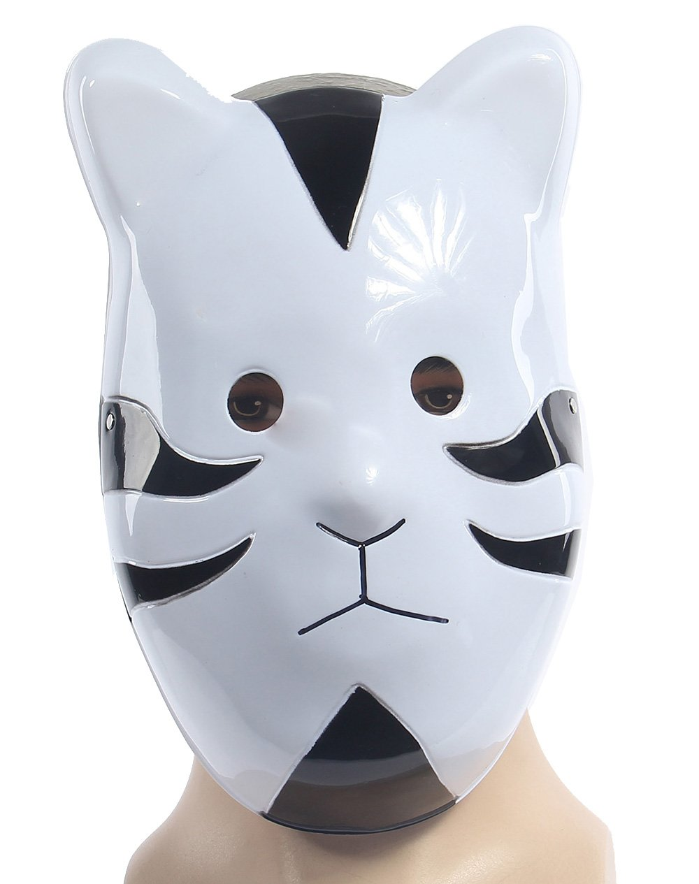 Naruto Shippuuden ANBU Cosplay Mask Itachi Cat Style Black by Renineic: Amazon.es: Juguetes y juegos
