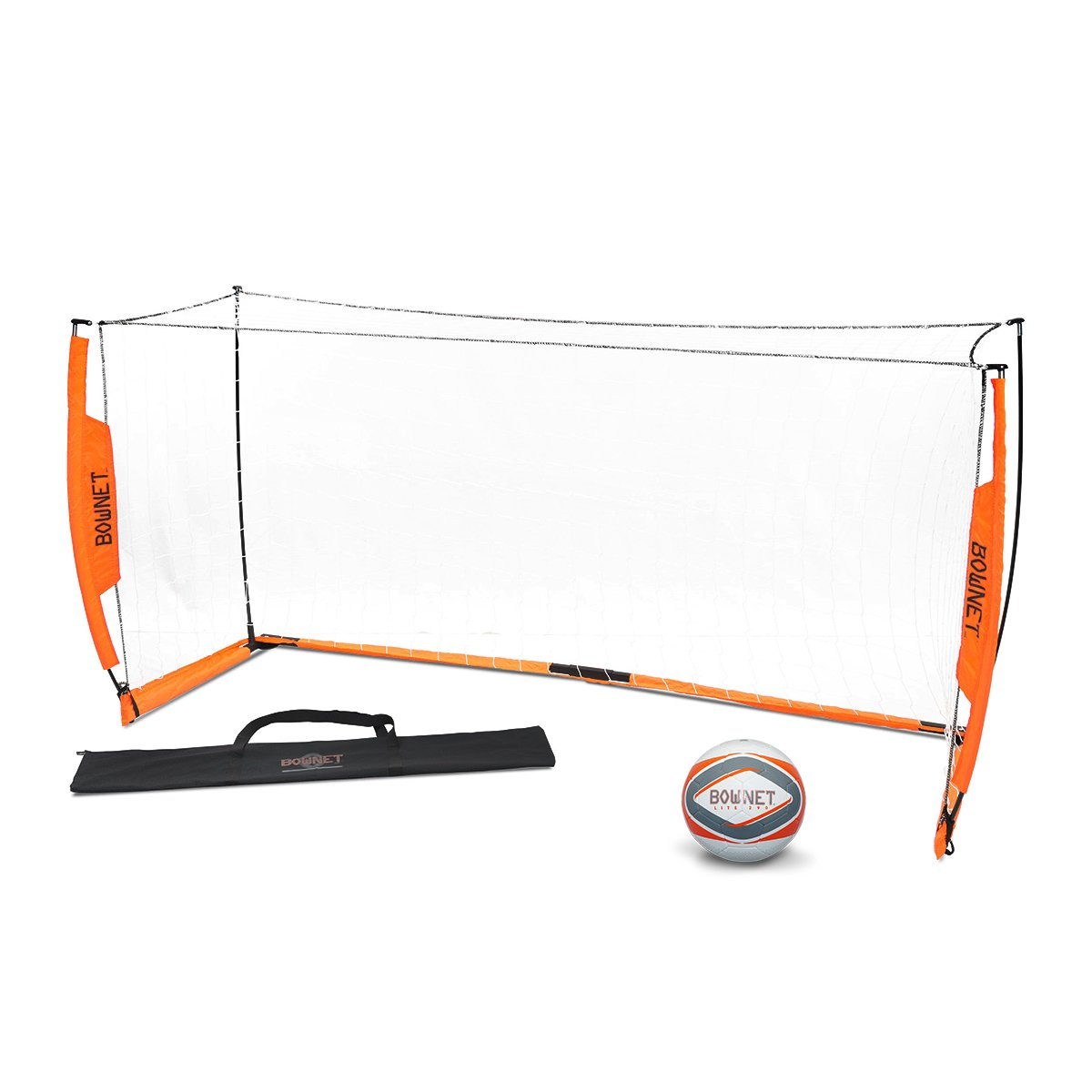 BUNDLE PACK - Bownet 4' x 8' Soccer Goal with Free Lite Soccer Ball, Size 4