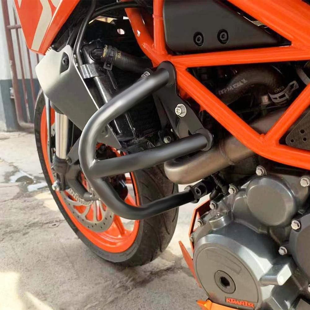 Motorcycle Engine Bumper Guard Crash Bar Protection Frame Sliders for KTM Duke 390 2013-2019 Duke 250 2017-2019-Black