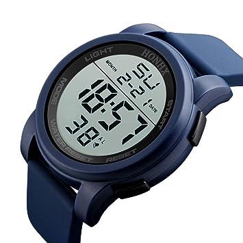 Reloj inteligente, oldeagle Hombres Lujo analógico Digital Militar ejército deporte LED resistente al agua reloj de pulsera, Band Length: 24 cm, ...