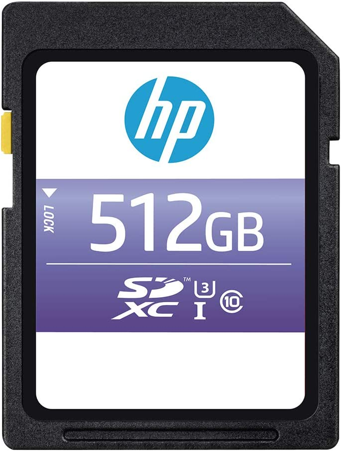HP 512GB sx330 Class 10 U3 SDXC Flash Memory Card