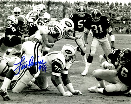 - Autographed Lou Piccone New York Jets 8x10 Photo - w/COA