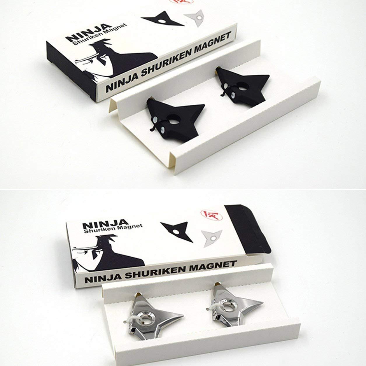 Moda Imanes de Nevera Samurai Shuriken Ninja Dart Etiqueta de Estrella de Cinco Puntas, Plateado