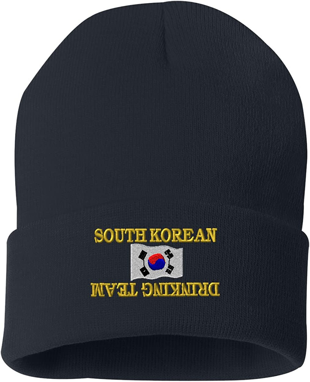 SOUTH KOREAN DRINKING TEAM Custom Personalized Embroidery Embroidered Beanie