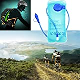 MIJORA-NEW 2L Bike Mouth Water Bladder Bag Hydration Camping Hiking Outdoor Sports Blue