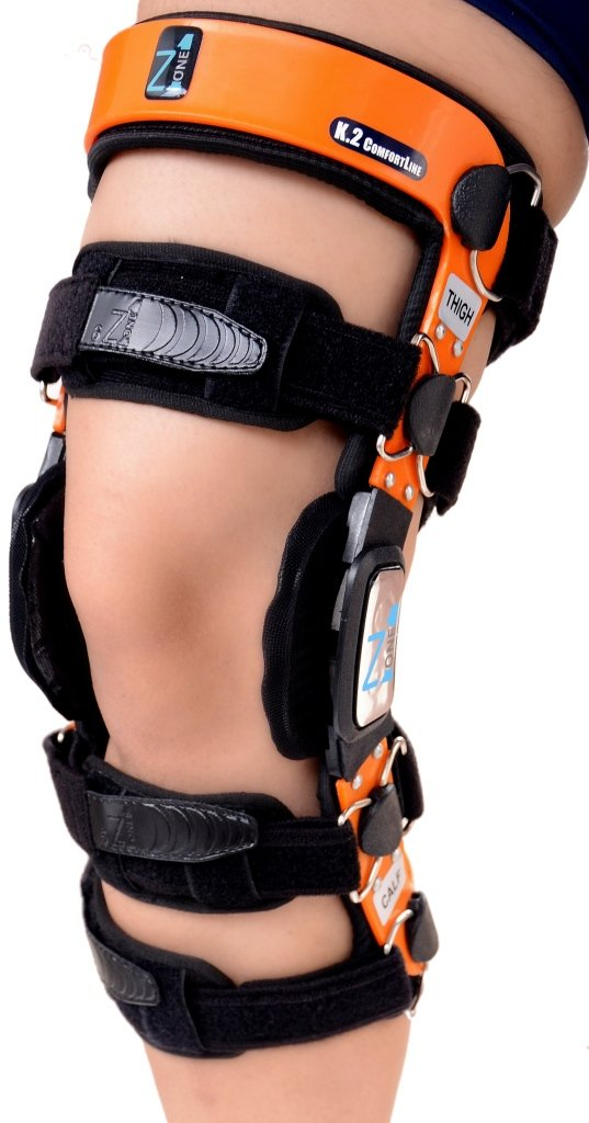 Z1 K2 ComfortLine Knee Brace (S14(THIGH=21-22.5''/CALF=19-20.5'')–Ideal for ACL/Ligament / Sports Injuries, Mild Osteoarthritis(OA) & for preventive protection from Knee Joint Pain/Degeneration