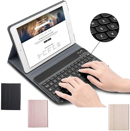 Funda de teclado para Huawei MediaPad T5 10 pulgadas 2018 Tablet PC, Slim Stand Folio Funda de piel con teclado magnético desmontable inalámbrico