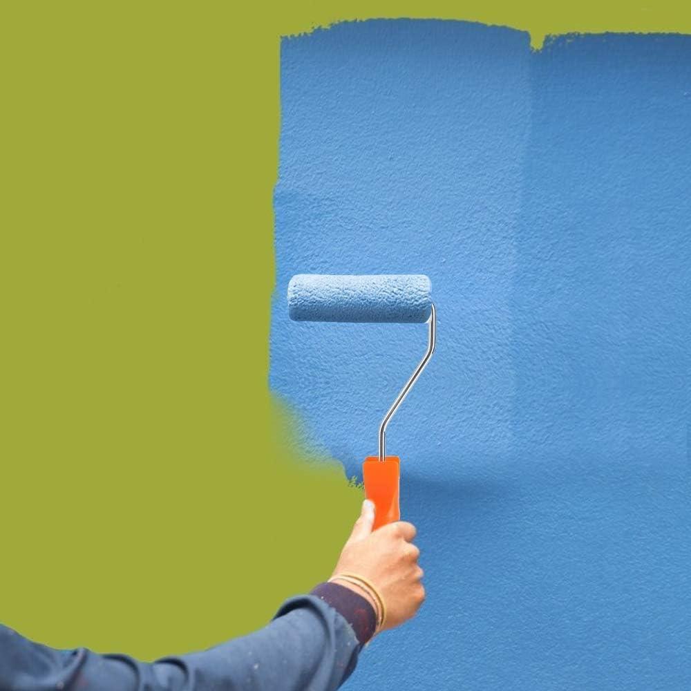 22 Piezas Mini Cepillo de Rodillo kit de Herramientas de Decoraci/ón de,Puerta de,Techo de,Piso de Jard/ín Mini Mango de Rodillo Kit de Rodillo de Pintura Cepillo de Rodillo de Pintura
