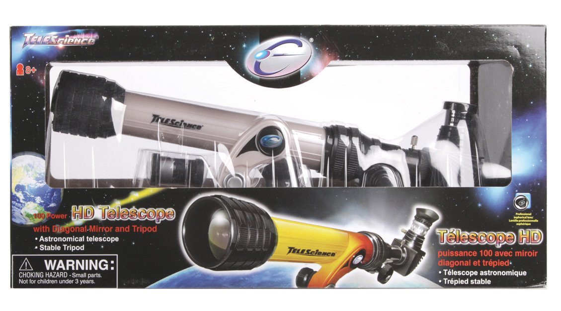 Hd teleskop fernrohr inkl stativ für kinder und amazon kamera