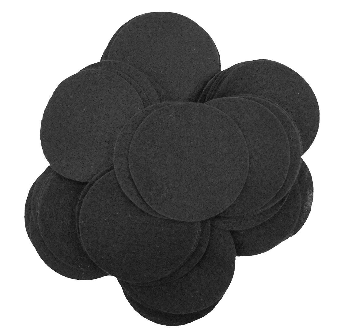 Playfully Ever After 3 Inch Black 30pc Felt Circles PEA-FELT-3INDOT-50Black