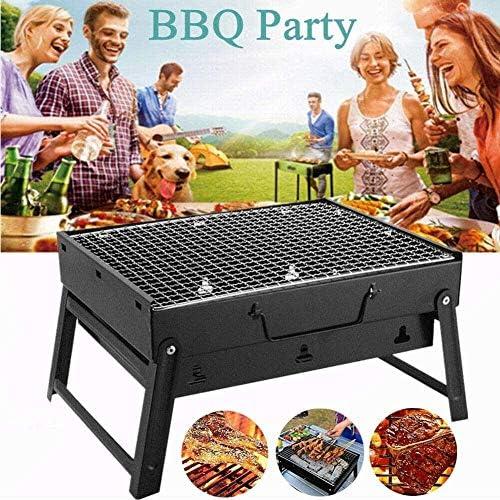 LUCKING Barbecue a Carbone Barbecue Portatile in Acciaio Inossidabile Perfetto per Cucinare in Campeggio Festa in Giardino all'aperto 3~5 Persone