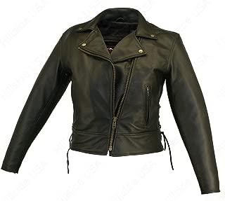 product image for Women's Beltless Biker Leather Jacket