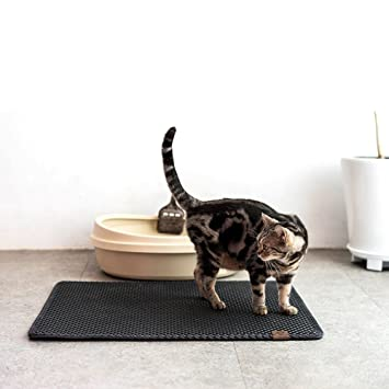Wuudi Cojín de Arena de Gato, Goma EVA Elástica, Impermeable, Cojín Limpio Antideslizante: Amazon.es: Productos para mascotas