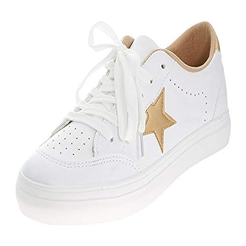 4cb26db6dba7 Emma Shoes Women s Lace-up Star Print Sneaker