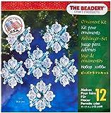 Beadery Holiday Beaded Ornament Kit, Filagree Snowflake, 1.75-Inch. Makes 12