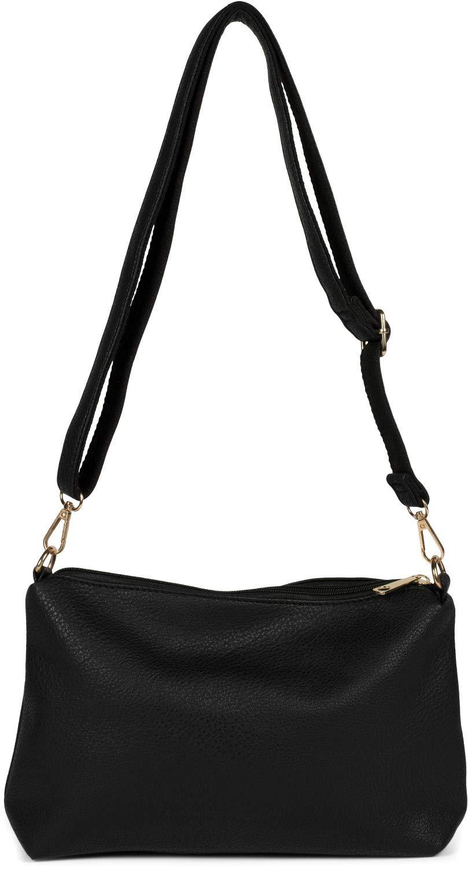 styleBREAKER dam väska handväskor set med stansad paisley lasercut mönster, 2 fickor, axelväska, Shopper 02012340 svart