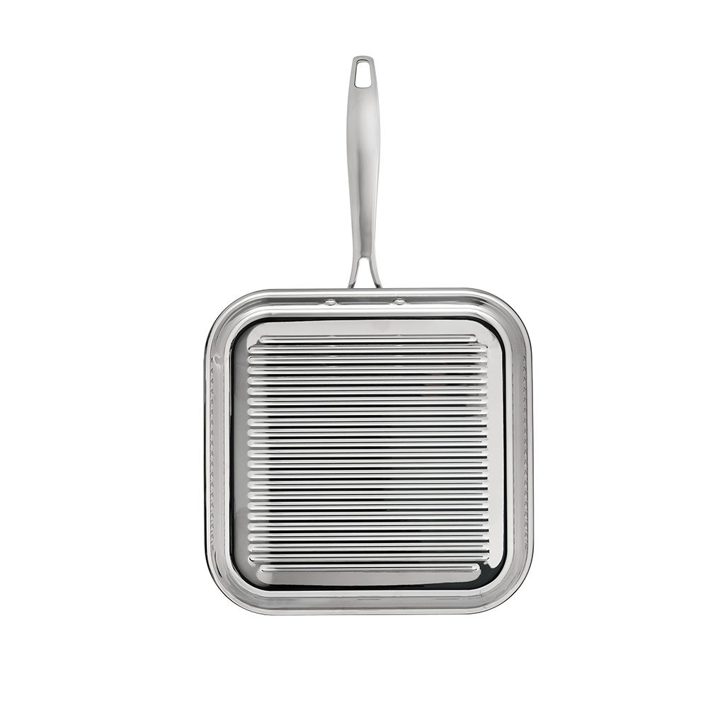 Tramontina 80116/072DS Grill Pan, 11 Inch, Stainless Steel by Tramontina (Image #2)