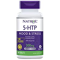 Natrol 5-HTP Time Release tablets, Promotes a Calm Relaxed Mood, Helps Maintain...