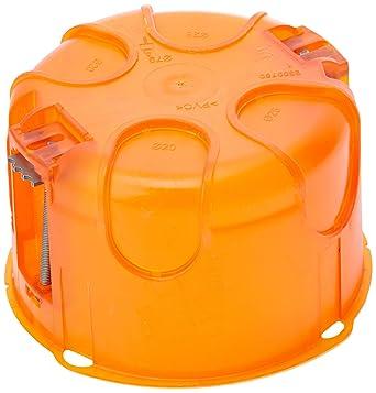 legrand 080188 boite d encastrement simple batibox multimateriaux o80mm 50mm profondeur orange lot de 10