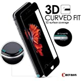 Chevron Iphone 7 Screen Protector (3D Glass), Chevron Iphone 7 3D Coverage Tempered Glass Screen Protector (Black) - 0.3Mm