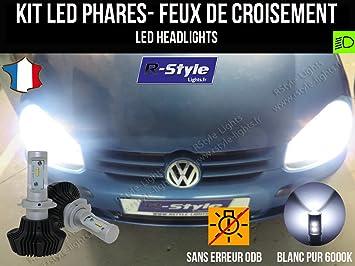 MyAutoLight - Kit de bombillas LED de alto rendimiento para faros H7 de coche: Amazon.es: Coche y moto