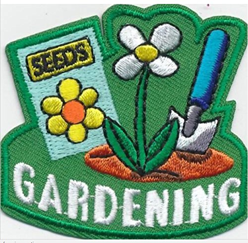 Cub Girl Boy GARDENING Embroidered Iron-On Fun Patch Crests Badge Scout Guides ()