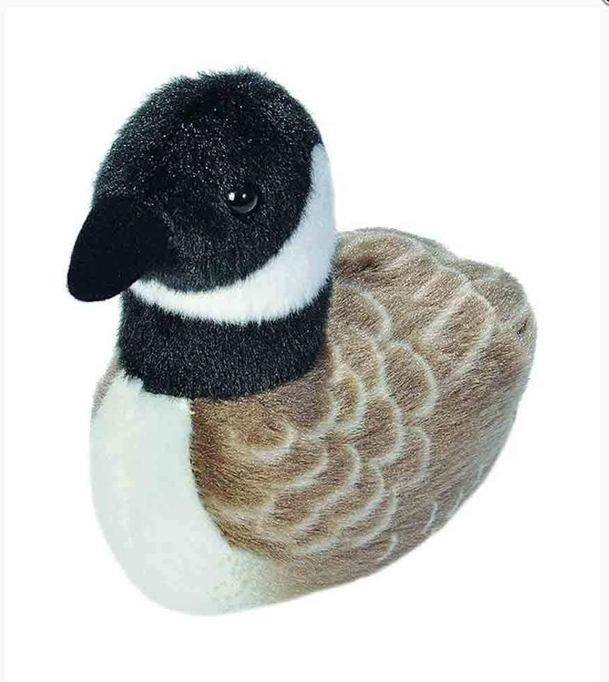 Wild Republic Audubon Birds Canada Goose Plush with Authentic Bird Sound, Stuffed Animal, Bird Toys for Kids and Birders