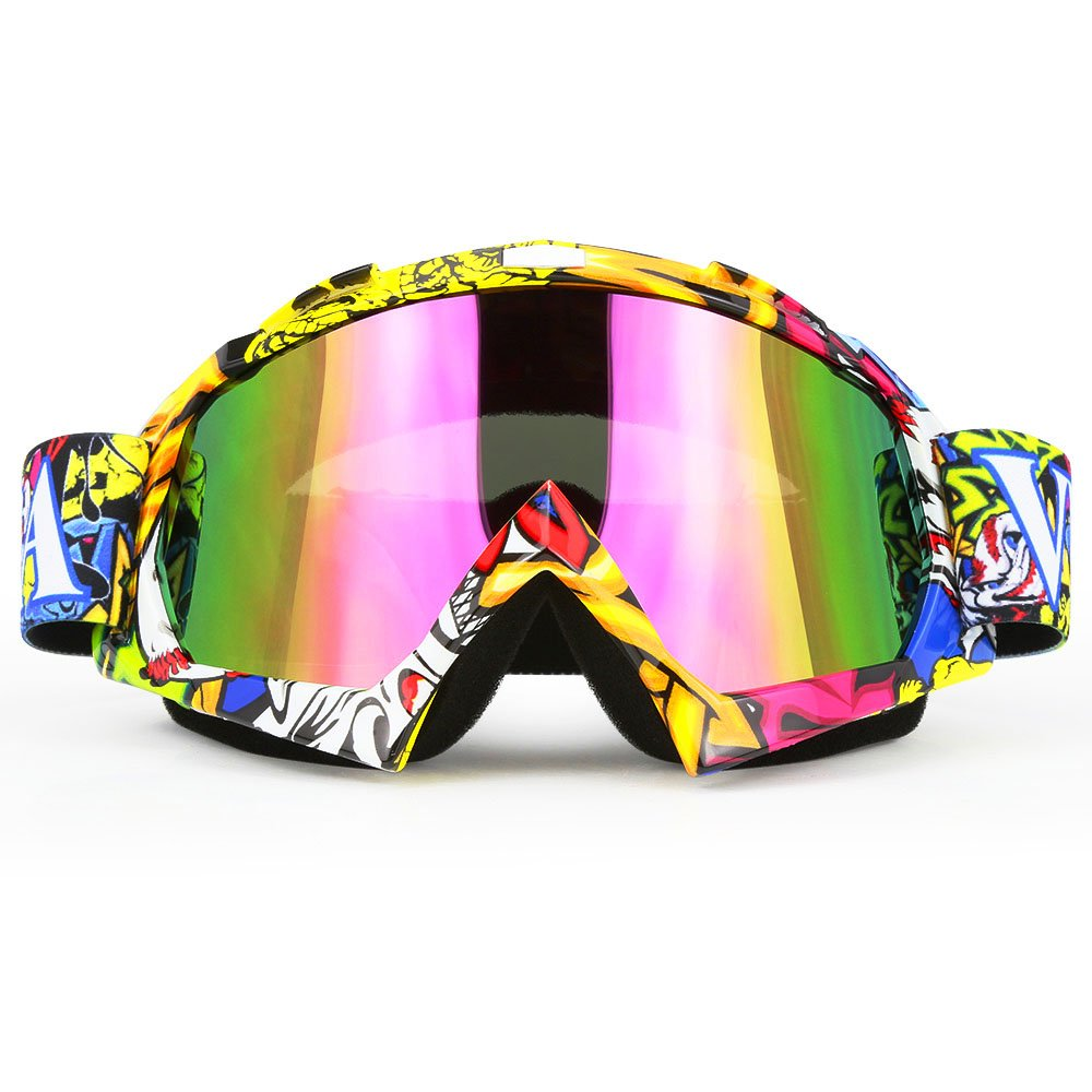JAMIEWIN Professtional Adult Motorcycle Goggles Off Road Dirt Bike ATV Riding Motocross Mx Goggles Glasses for Men Women Youth Kids(C74) by JAMIEWIN