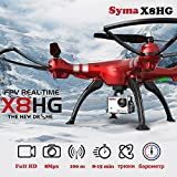 Hanbaili X8HG FPV Drone with 8 Megapixel 1080P Camera Real Time Transmission, Memory Card in WiFi Camera,Pressure Set High 360 Degree Flips Selfie Drone with Headless Mode for Experts