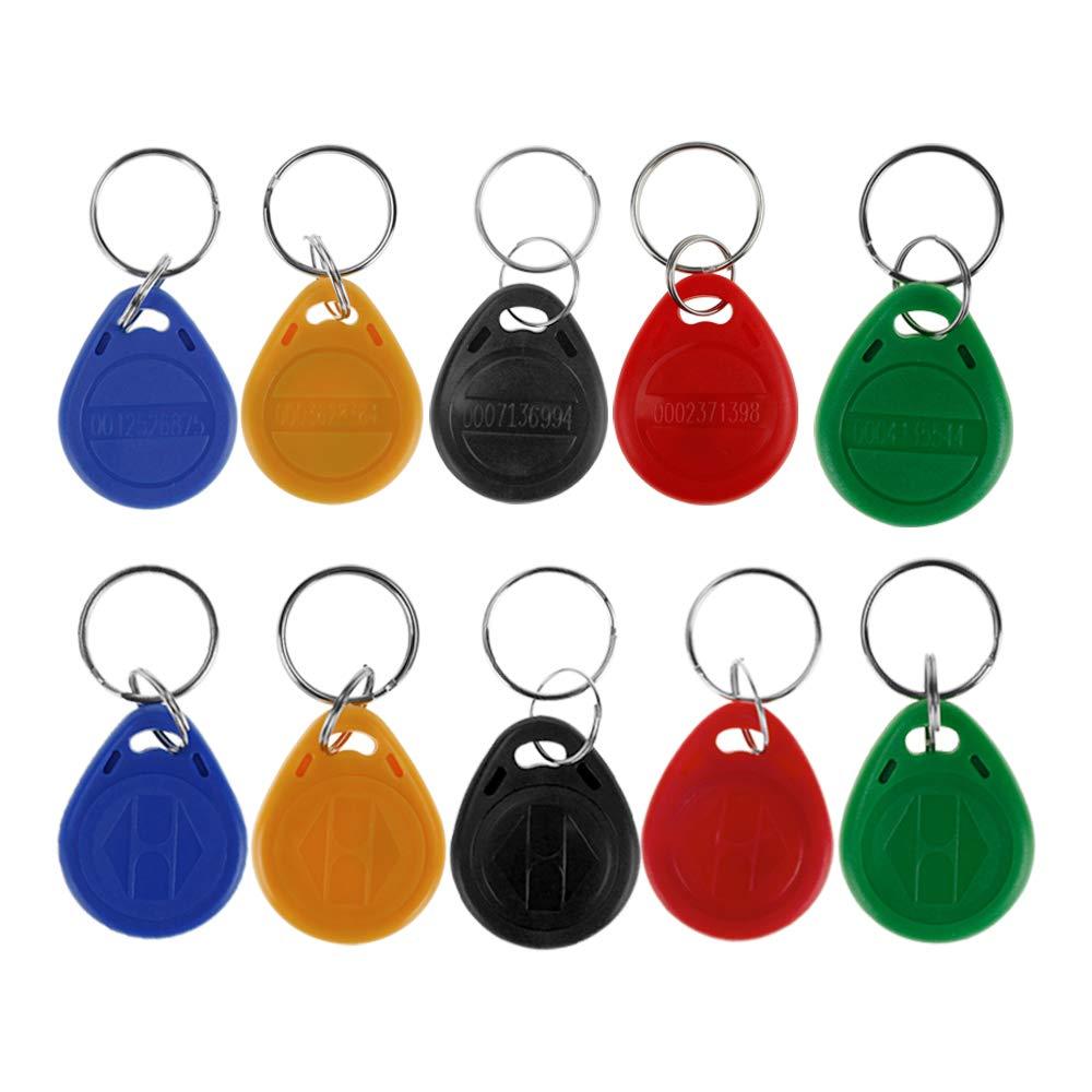 HFeng 10pcs tarjeta llave de proximidad 125kHz RFID de control de acceso tk4100 em4100 Llaveros Llaveros Smart ID tarjeta llave para Puerta cerradura ...