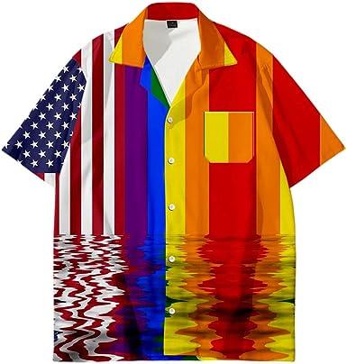 APHT LGBT Gay Pride Shirt de Manga Corta Chándal Bicolor T ...