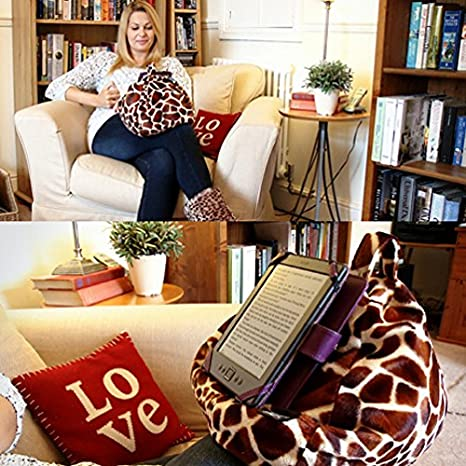 Red iBeani iPad /& Tablet Stand//Bean Bag Cushion Holder for All Devices//Any Angle on Any Surface