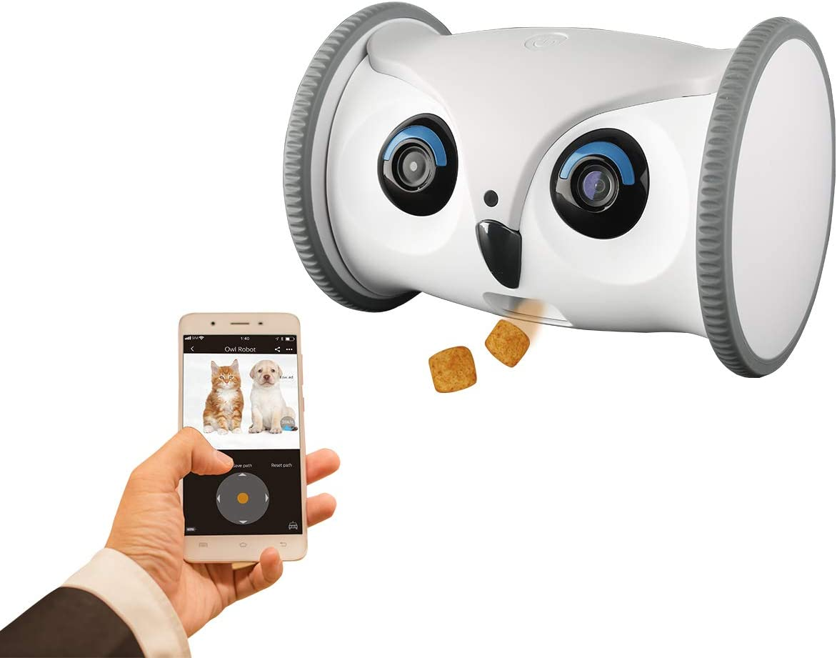 SKYMEE Owl Robot: Mobile Full HD Pet Camera