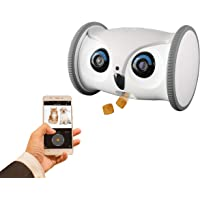 SKYMEE Owl Robot: Mobile Full HD Pet Camera with Treat Dispenser, Interactive Toy for Dogs…