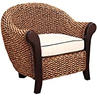 Water Hyacinth Soldano Club Chair Made By Chic Teak