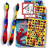 Character Children's Toothbrushes Bundle with Reward Stickers (Spiderman)