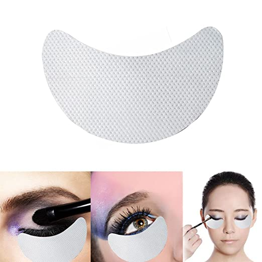 QUEEN SAID 100piece/pack Eye shadow Shield for Eyeshadow Shields Protector Pads Eyes Lips Makeup Application Tool