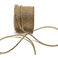 15 m x 4 mm Cordón oro insertos