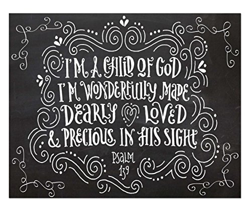 Child God Quote Print Christening