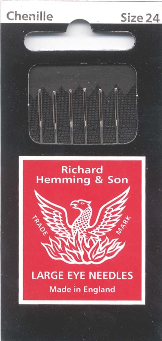 Size 24 Colonial Needle 6 Count Richard Hemming Chenille Needle