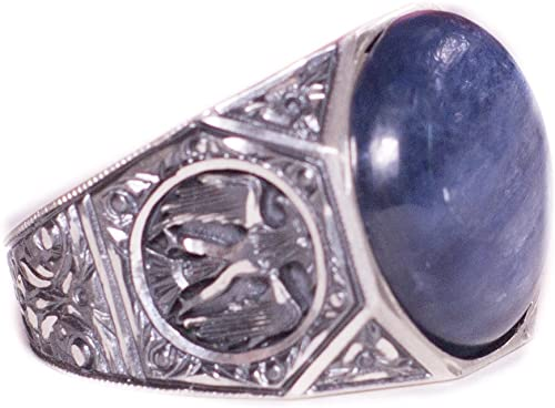 Free Express Shipping Double Headed Eagle Ring Falcon Jewelry 925 Sterling Silver Men Ring