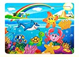 PigBangbang Deluxe Wooden 60 Piece Jigsaw Puzzle 8.85 X 11.8''Buy 1 Get 1 Free Anime Underwater World
